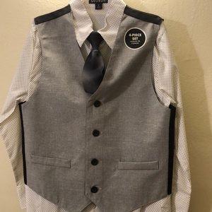 Brand New! Boys 4 piece vest/suit set.